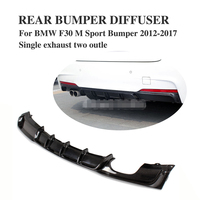 Carbon Firber / FRP Rear Bumper Diffuser Lip Spoiler For BMW F30 M Sport bumper 2012 2017 single exhaust Two Outlet