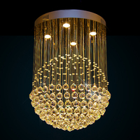 Luxury Modern K9 Large LED Living Room Crystal Chandeliers Light Fixtures For Staircase Stair Lamps With