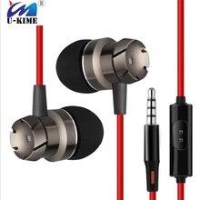 10 Pçs/lote Controle Com Fio Fones De Ouvido de Metal Baixo Microfone Música para MP3 Telefone Huawei Samsung Xiaomi Venda Direta Da Fábrica Melhor Preço