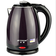 2017 Sale Limited Eco-friendly Double Anti-scald Encapsulated Stainless Steel Electric Kettle 2.0l Water Boil tea-pot Purple
