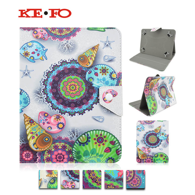 Print PU Leather Stand case Cover For Android Tablet PC PAD For Irbis TX18/TX17 7.0 inch universal Accessories S4A92D