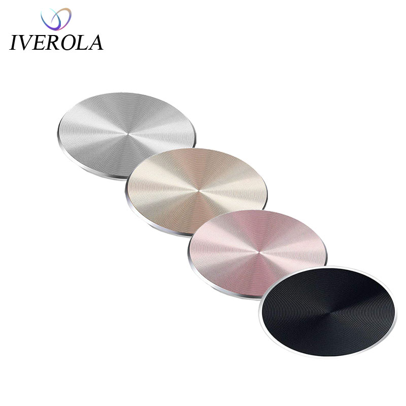 Univerola Adhesive Metal Plate Mounting Kits Stickers Universal Discs Magnet Patch Compatible With Magnetic Car Phone Holder
