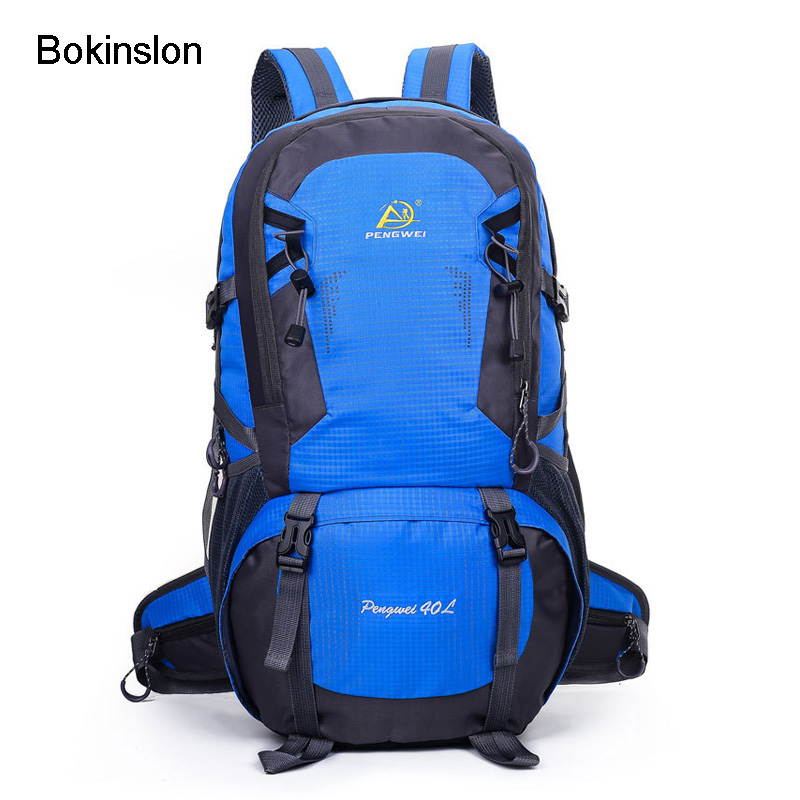 Bokinslon Unisex Backpacks Nylon Multifunction Men Travel Bags Woman Stitching Color Practical Women Backpacks Bags travel tale color stitching