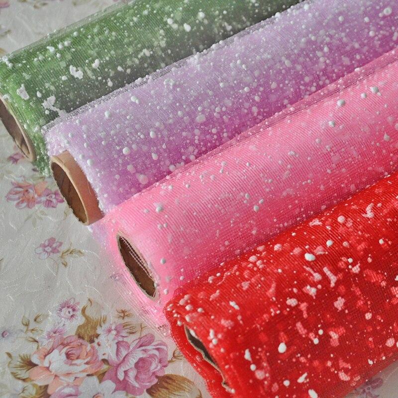 все цены на DIY snow point gauze yarn snow yarn bubble burst models of low-net for flowers онлайн