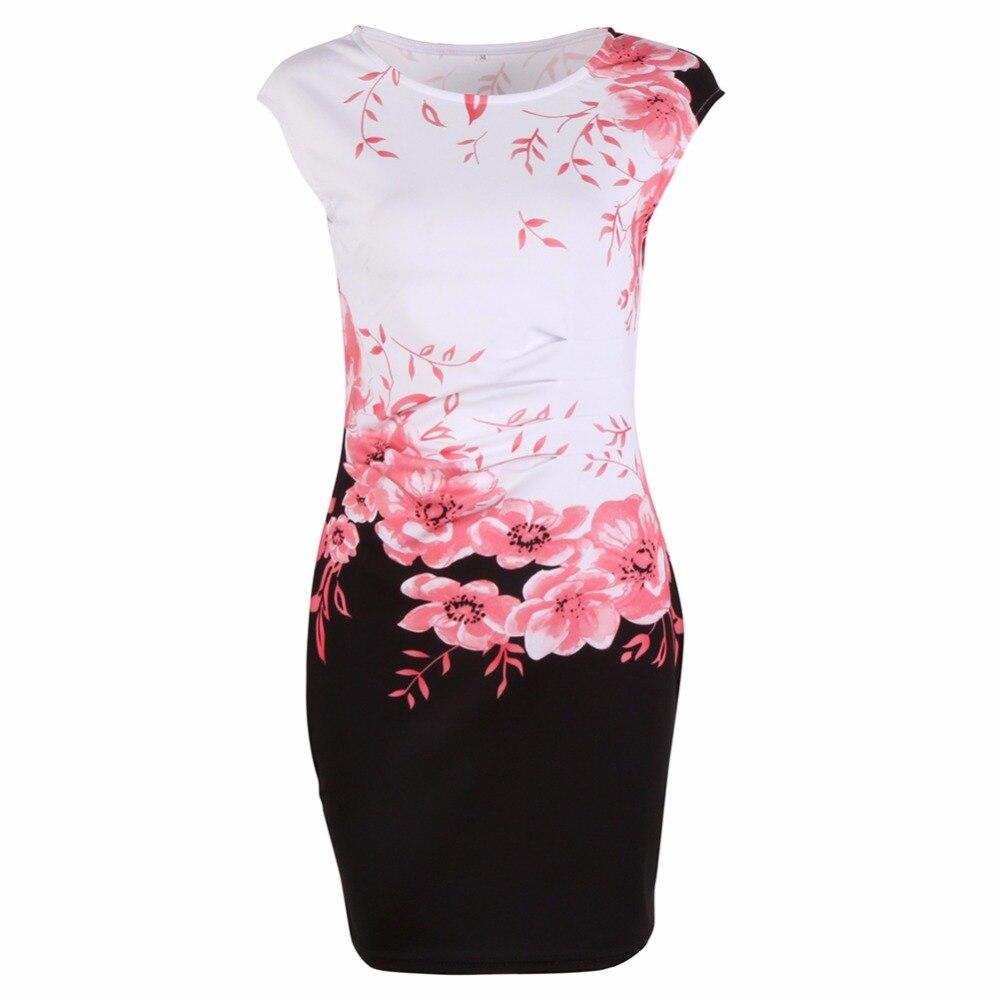 2017 Verano Moda de Las Mujeres Chinas de La Vendimia Elegante Sin ...