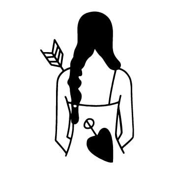 NEW Design Old School Style long braid gril arrow Temporary Tattoo Sticker Body Art Water Transfer fake tattoo for men women