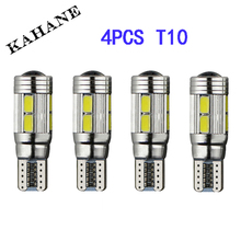 4 X T10 LED W5W Car LED Auto Lamp 12V Light bulbs with Projector Lens for ford focus 2 3 fiesta mondeo ecosport kuga drl