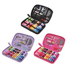 50pcs Colorful Sewing Threads/24 Colors DIY Sewing Box Needle Thread Threader Tape Scissor Storage Bag Sewing Box Set