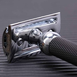 Image 5 - Yaqi Chrome And Black Color Brass Heavy Handle Wet Safety Razor