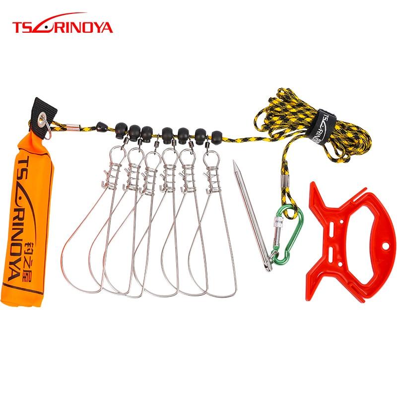 TSURINOYA 5m 5.8m Fishing Lock Buckle Umbrella Ropes Float Rest 6 Snaps Stringer Fishing Lock Spring Buckle Fishing Accessories|Fishing Tools| |  -
