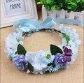 Handmade Fabric Flower Tiara Hair Flower Crown Wedding Party Woman Girls Butterfly headband Hair Accessories Flower Wreath