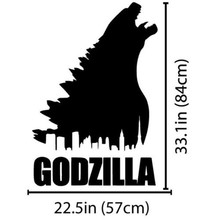 Godzilla Monster Dinosaur Wall Decal Art Sticker Carved Removable Stickers Vinyl Decals