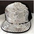 1 piece silver Bigbang jazz hat baseball cap Men Women Spike Studs Rivet Punk style Rock Hiphop For Pick