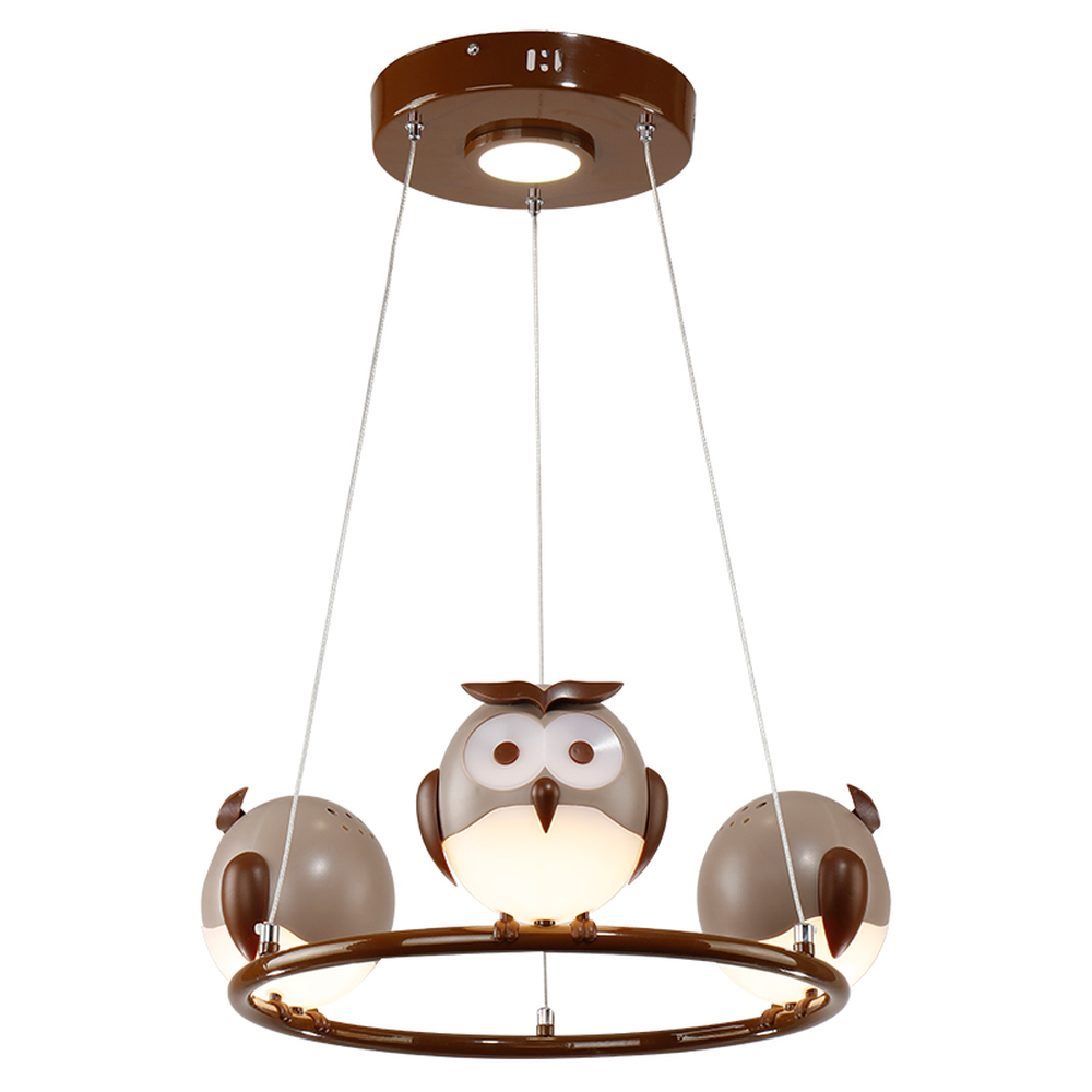 HGhomeart Cartoon Kids Room Chandelier Led Luminaria Room Iron Chandelier Lighting Creative Eye Bird Chandeliers for The Bedroom wrought iron chandelier aircraft lamp boy children master bedroom room led chandeliers creative cartoon