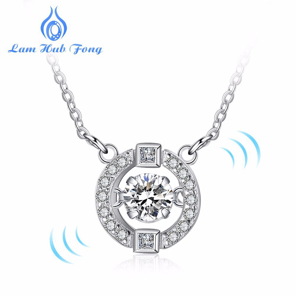 Real 925 Sterling Silver AAA Zircon Necklace Natural