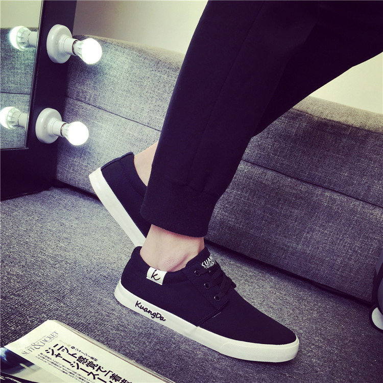 ФОТО Boys summer low canvas shoes male lacing cotton-made casual shoes men trend breathable skate canvas man shoes