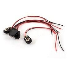 5 х черный пластиковый чехол 14,99 см, 2 шт/комплект-Кабельный соединитель 9 V аккумуляторная батарея