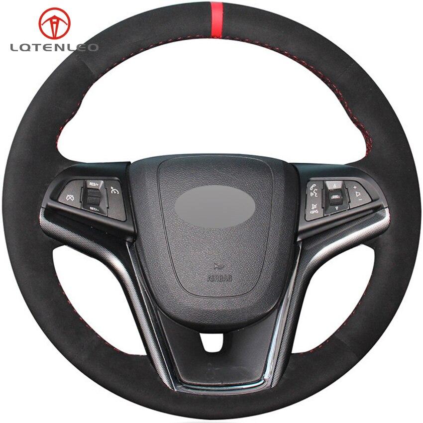 Lqtenleo Zwart Suede Auto Stuurhoes Voor Chevrolet Malibu 2011-2018 Volt Camaro 2011-2015 Aveo 2016 -2018 Sonic 2012