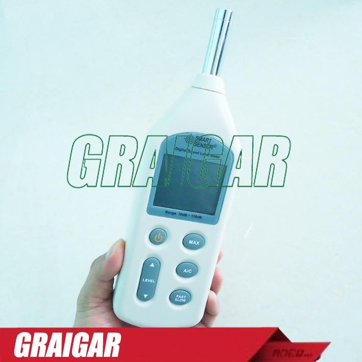 Smart Sensor AR824 Sound Level Meter Noise Tester 30~130dB Measuring Range 4 8 days arrival lb92t portable sweetness tester brix meter with measuring range 58 92