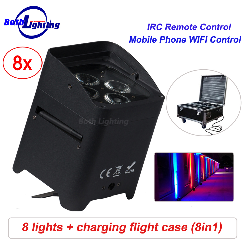 Battery par light wifi &remote control SMART DJ 4x18w RGBWA UV 6in1 wireless dmx LED Uplighting for weddingBattery par light wifi &remote control SMART DJ 4x18w RGBWA UV 6in1 wireless dmx LED Uplighting for wedding