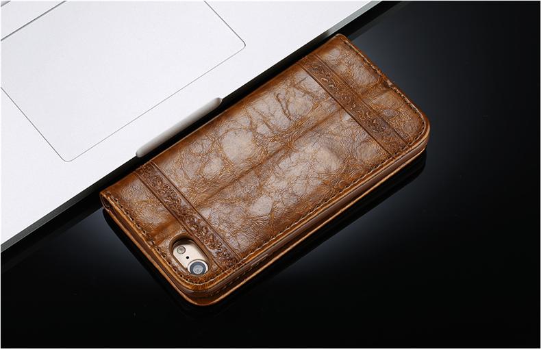 Skórzane etui z klapką telefon case for iphone 7 plus 6 s plus 5S 4S samsung galaxy S3 S4 S5 S6 S7 S8 Krawędzi Plus Uwaga 3 4 5 Karty Telefon torby 4