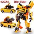 2015 Hot Sale Original Box 47 CM L Tamanho Transformação Brinquedos Infantis Crianças Robô BUMBLEBEE Autobots Carro Anime Figura de Ação classe