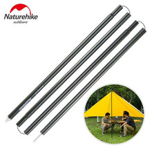 Naturehike New Sturdy Aluminium Alloy Awning Rod Outdoor Support Pole Camping 2 PCS 4 sections Tent