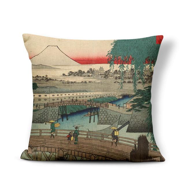 Retro Japanese Style Cushion Cover