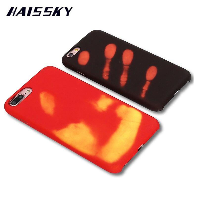 HAISSKY Sensor Térmico Para iPhone 7 Plus de 6 6 s plus 6 plus Casos Sensibles A