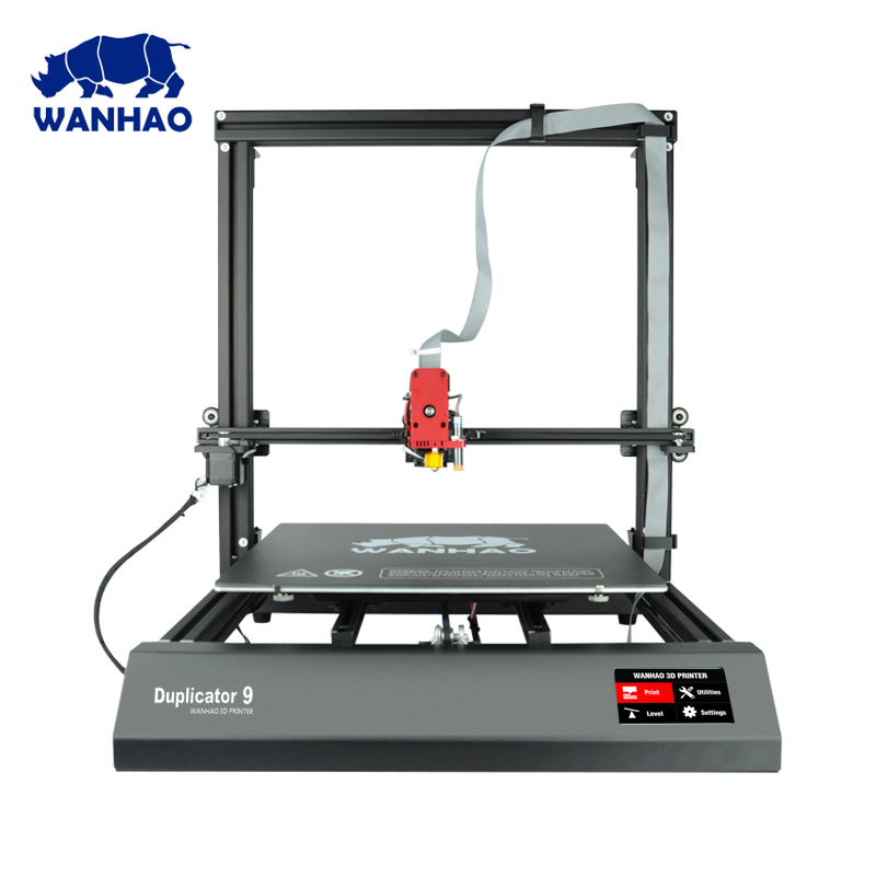 цена на 2018 New D9 500*500*500mm Biggest Size WANHAO factory desktop 3D printer Wanhao Duplicator 9 FDM / FFF large format 3D printer