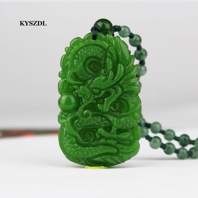 משלוח חינם שינג 'יאנג HeTian KYSZDL אבן גילוף בעבודת יד אבן תליוני הדרקון לגברים ונשות האופנה התכשיטים