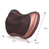 Массажер для шеи, для дома, шейный шиацу, массажер для шеи, спины, талии, тела, электрическая многофункциональная Массажная подушка