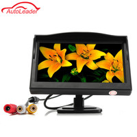 5 0 Inch Car Monitor TFT LCD 800 480 Color 16 9 Screen 2 Way Video
