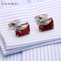 The High Quality Cufflinks French Man Fashion Red Cufflinks Wholesale Retail French Shirt Gemelos De Alta