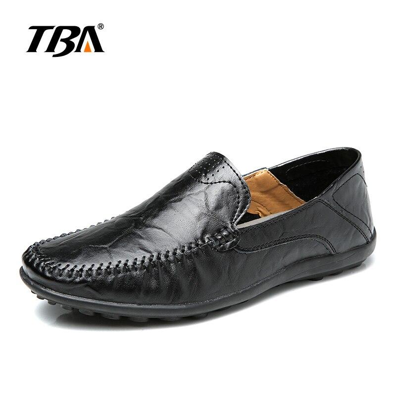 2019 TBA мужская кожаная обувь без шнуровки Мужская Уличная прогулочная обувь мужские черные туфли из PU искусственной кожи высокого качества б...