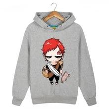 Anime Naruto Gaara Gedruckt Hoodies Fleece Mit Kapuze Sweatshirts Neue 2017 Mens Cartoon Hoody Kostenloser Versand