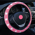 2016 new arrivals pink Snowflakes cashmere car steering wheel covers/warm winter   fashion popular wheel cover women men girl