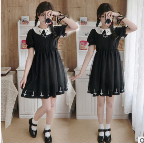Girls Japanese Style Kawaii Kimono Lolita Cosplay Costumes Cute Gothic Butterfly Sleeve Dress Women JK Suit Outfits Comic-con