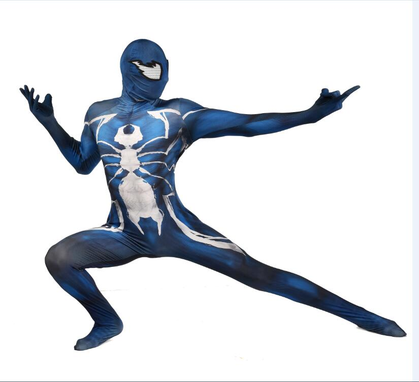 Venom Spiderman Cosplay Costumes Venomized black Spiderman custumes Suit for Halloween parties 24 Hrs Shipped Out