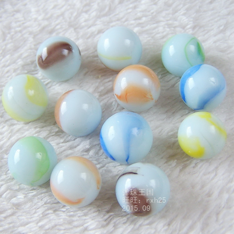 20 PCS Of Glass Ball 14 Mm Cream Console Game Pinball Machine Cattle Small Marbles Pat Toys Parent-child Machine Beads