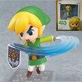 Figuras Legend of Zelda Wind Waker Enlace Ver. #413 PVC Acton Figura Nendoroid anime Collection Modelo de Juguete 10 cm