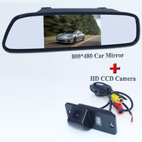 Promotion For BMW 3/5 SERIES car parking rearview camera + 4.3inch car monitor mirror TFT LCD Free Shipping