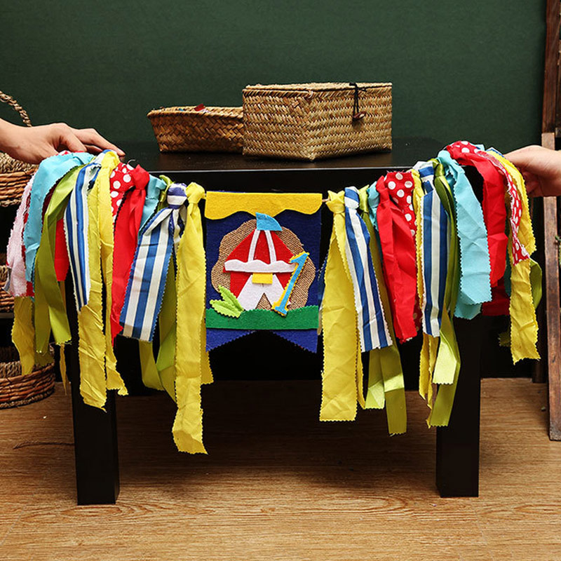 Birthday Banner Baby Shower Kids Party Decor Colorful Cloth Banner Flags Festival Dinner Party Supplies