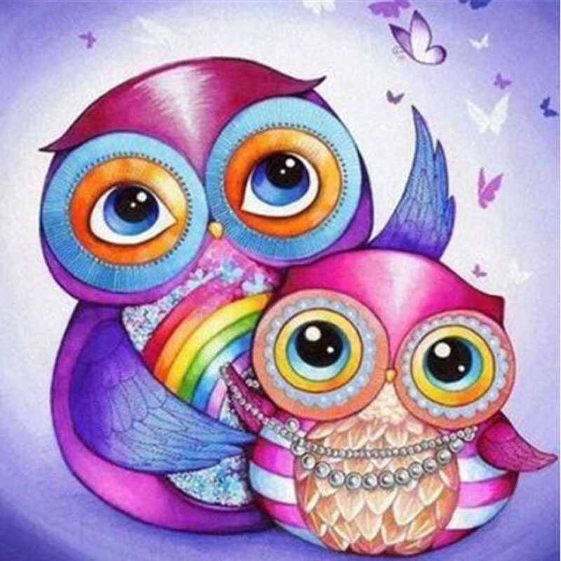 H2752 YIKEE Q Owl diamond painting,diamond embroidered,diamond painting bulk