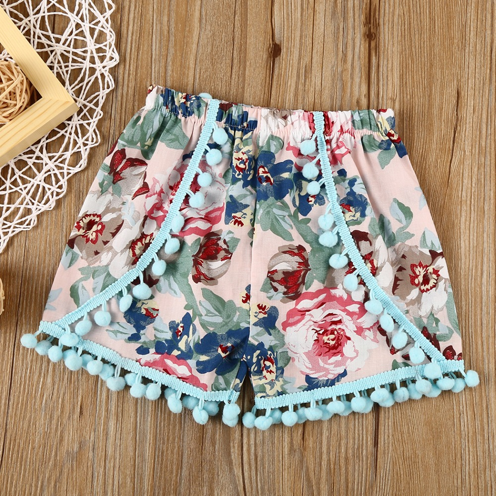 BABY BALL Shorts bloomers hot pants Toddler Girl Shorts Ruffle kids Bobo Choses 2017 Dave Bella summer Baby Girls Shorts kids ruffle trim blouse with frill striped shorts