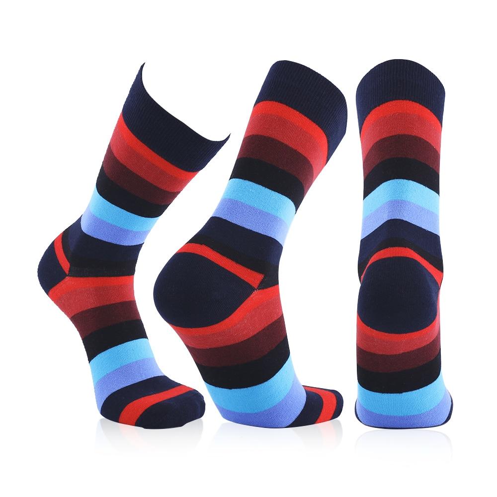 9 Pair Mens Colorful Sock Casual Woman Mens Socks Chromatic Stripe Six Pairs Of Socks Mens High Compression Socks Gift