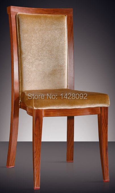 Top Quality Wood Color Aluminum Restaurant Chair  LQ-L806