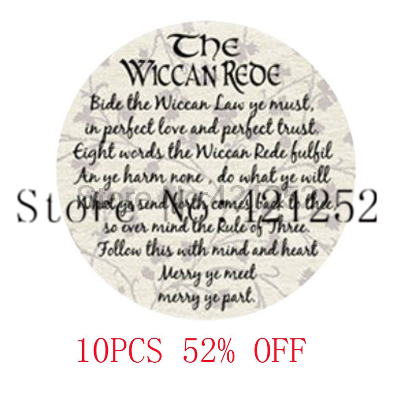 The Wiccan Rede Pendant Glass Photo cabochon necklace keyring bookmark cufflink earring