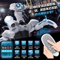 Free Shipping 2015 New TT388 Intelligent RC Robot Animal Four Angle Monster Simulation Robot Programmable Dance