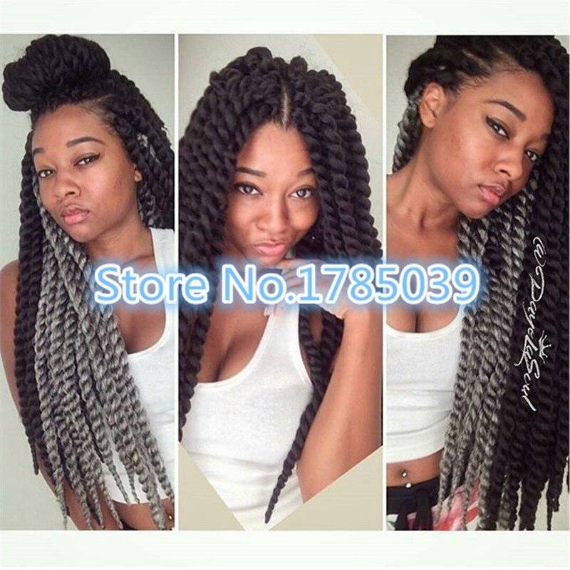 Jumbo Senegal Twist 2x Crochet Bulk Braiding Hair Havana Mambo